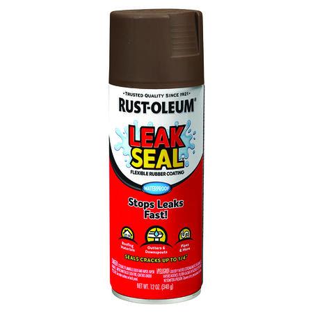 Rust-Oleum Brown Leakseal Flexible Rubber Sealant 12 oz.