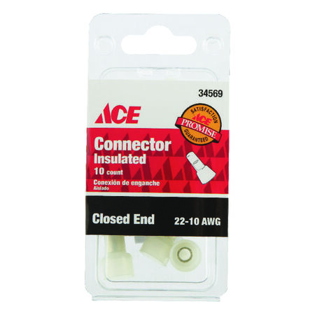 Ace Industrial Closed End Connector Nylon 10 Clear