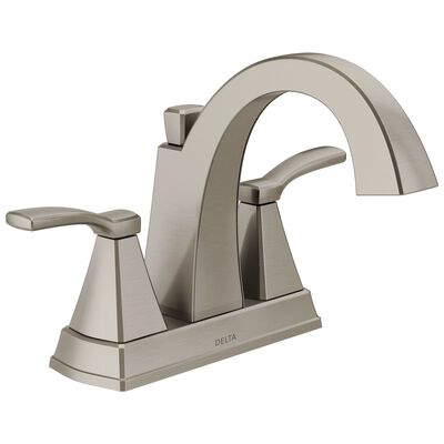 Delta Flynn Two Handle Lavatory Faucet 4 in. Stainless Steel