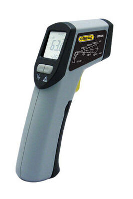 """General Tools Mid-Range """"Heat Seeker"""" Infrared Thermometer 5.98 in. Indoor and Outdoor Gray"""