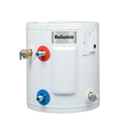 Reliance Electric Water Heater 15-1/4 in. H x 14-1/4 in. L x 14-1/4 in. W 6 gal.