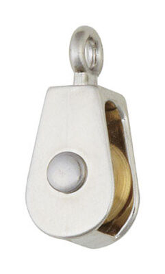 Campbell Chain Single Sheave Rigid Eye Pulley 3/4 in. Rigid 30 lb. Copper