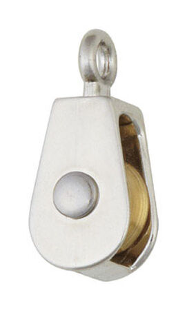 Campbell Chain Single Sheave Rigid Eye Pulley 3/4 in. Rigid 30 lb. Copper