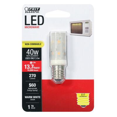 FEIT Electric 3.5 watts T8 LED Bulb 270 lumens Warm White Appliance 40 Watt Equivalence