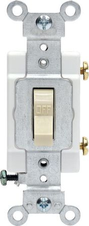 Leviton Commercial 20 amps Toggle Switch Single Pole