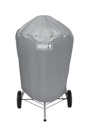 Weber Gray Kettle Grill Cover 36 in. H x 28.5 in. W x 23 ft. D Fits 22 in. charcoal grills