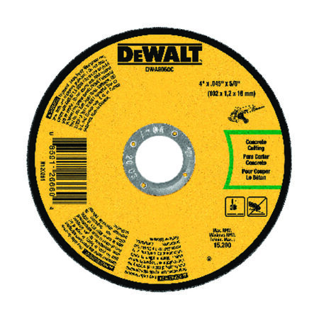 "4"" x .045"" x 5/8"" Masonry Cut-Off Wheel"
