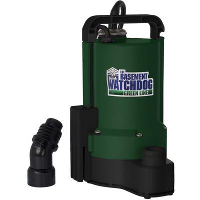 Basement Watchdog Green Line 1/3 hp 3700 gph Plastic Submersible Sump Pump