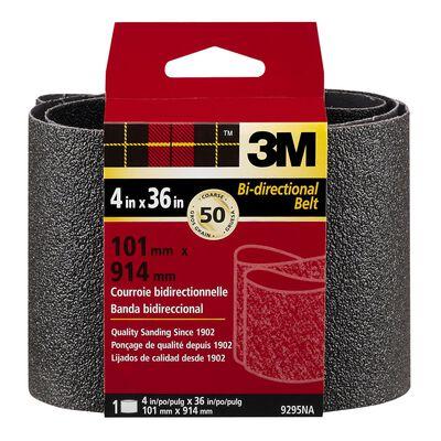 3M Sanding Belt 4 in. W x 36 in. L 50 Grit Coarse 1 pk