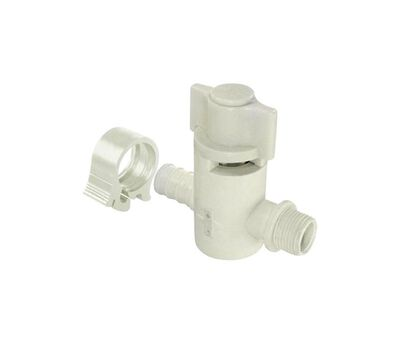 Flair-It PEXLock 1/2 in. x PEX x 3/8 in. Dia. x 3/8 in. 1/2 in. Compression 2 pc. Supply Valve
