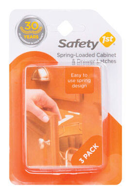Safety 1st White Plastic Spring Latches 3 pk