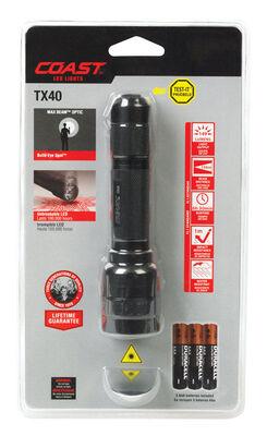 Coast TX40 164 lumens Flashlight LED AAA Black