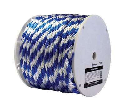 Wellington 5/8 in. Dia. x 200 ft. L Solid Braided Poly Derby Rope Blue/White