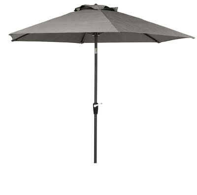 Living Accents Brookstone 9 ft. Dia. Tiltable Patio Umbrella Gray