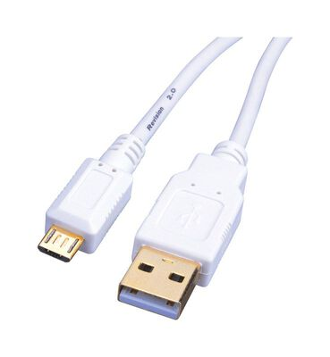 Monster 6 ft. L White USB 2.0 Micro Cable