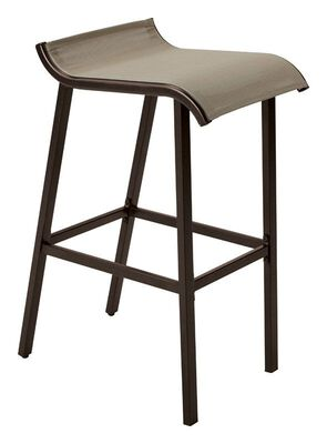 Living Accents Low-Back Bar Stool Gray