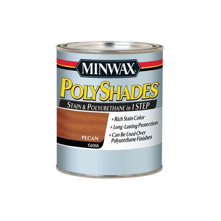 Minwax PolyShades Semi-Transparent Gloss Pecan Oil-Based Stain 1 qt.