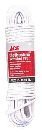 Ace 50 ft. L White Plastic Clothesline