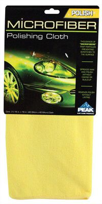 Peak 16 in. L x 16 in. W Polyester Auto Cleaning Cloth 1 pk