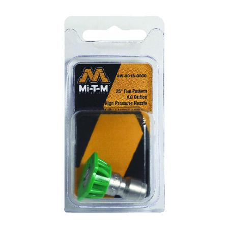 Mi-T-M Quick Connect 4 mm 25 25 deg. Pressure Washer Nozzle