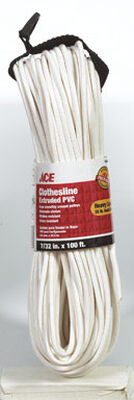 Ace 100 ft. L White Plastic Clothesline
