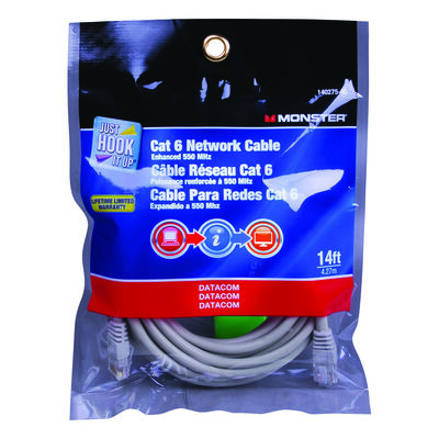 Monster Gray 14 ft. L Networking Cable