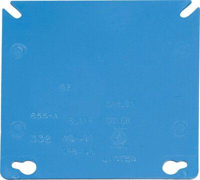 Carlon 4 in. H Square 2 Gang Junction Box Blue PVC