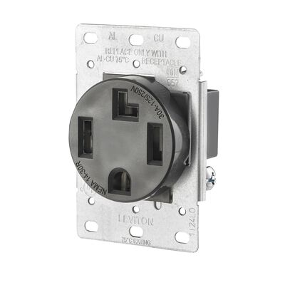 Leviton Electrical Receptacle 30 amps 14-30R 125/250 volts Black