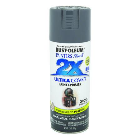 Rust-Oleum Painter's Touch 2X Ultra Cover Gloss Dark Gray Spray Paint 12 oz.
