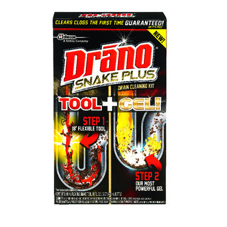 Drano Snake Plus Tool + Gel Drain Cleaning Kit 16 oz.