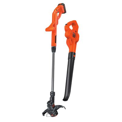Black+Decker Battery Powered Straight Shaft Cordless Trimmer and Sweeper 1/2 in.