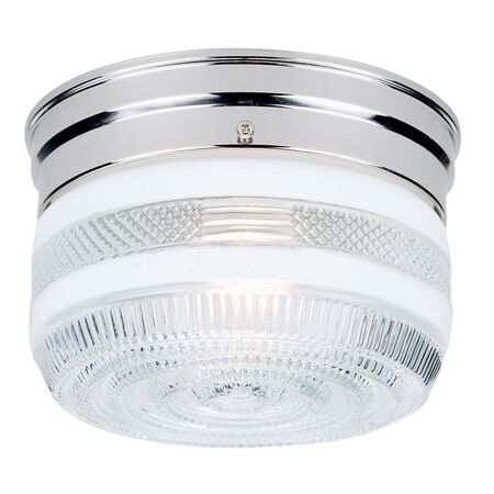 Westinghouse Silver Flush Mount Ceiling Fixture 6-3/4 in. D x 4-1/2 in. H x 6-3/4 in. W