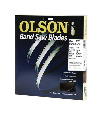 Olson 64.5 in. L x 0.5 in. W Metal Band Saw Blade