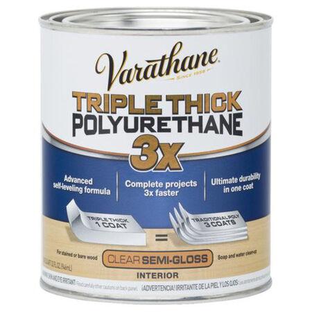 Varathane Semi-Gloss Clear Triple Thick Polyurethane 1 qt.