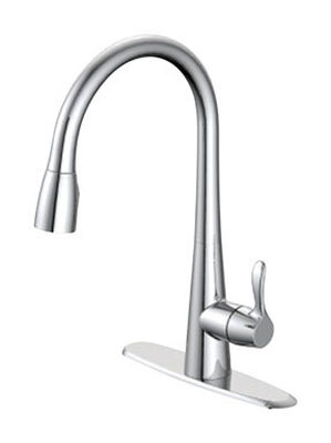 OakBrook Washerless Cartridge One Handle Chrome Kitchen Faucet