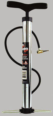 Custom Accessories Hand Pump 100 psi 27 in. Chrome Carded
