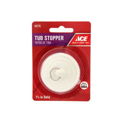 Ace 1-5/8 in. Dia. Tub Stopper Rubber Nickel Plated