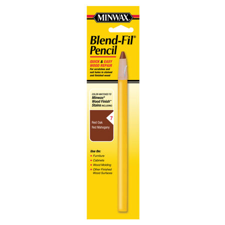 Minwax Blend-Fil No. 7 Red Mahogany, Red Oak Wood Pencil 1 oz.