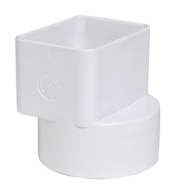 Plastic Trends 2 in. 3 in. Dia. Flush Downspout Adapter