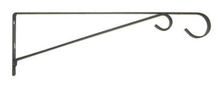 Panacea Black Steel Straight w/Loop Wall Plant Hook 15 in. D x 15 in. H x 9/16 in. W
