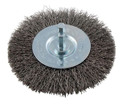 Forney 4 in. Dia. Coarse Crimped Wire Wheel Brush 6000 rpm