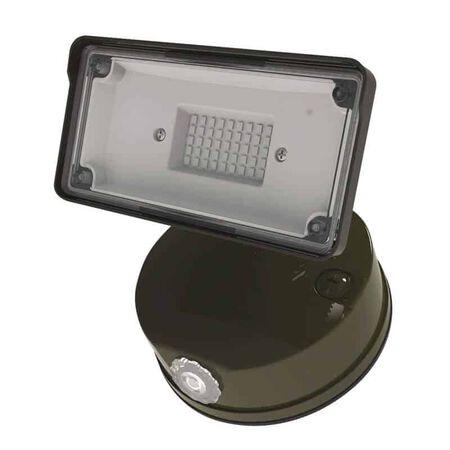 Halo Switch Hardwired LED Bronze Floodlight