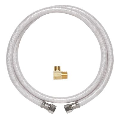 Ace 1/2 in. FIP x 3/8 in. Dia. MIP PVC Dishwasher Supply Line 48 in.