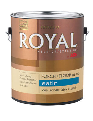 Ace Royal Latex Porch & Floor Paint 1 gal. Steel Wool Gray Satin