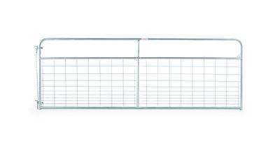 12' galvanized wire-filled tube gate 19 gauge rail 6 gauge wire