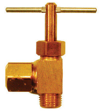 Ace 1/4 in. Dia. x 1/8 in. Dia. Brass Straight Needle Valve