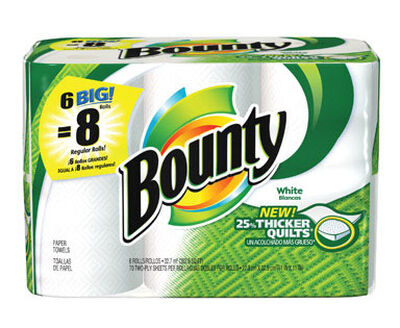 Bounty Paper Towels 54 sheet 2 Ply 6 roll