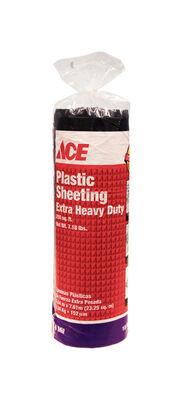 ACE Plastic Sheeting 6 mil x 10 ft. W x 25 ft. L Polyethylene Black