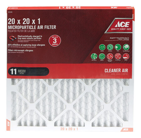 Ace 20 in. L x 20 in. W x 1 in. D Pleated Microparticle Air Filter 11 MERV
