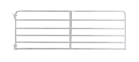 "10' 6-bar economy galvanized tube gate, 1 3/4"" 20 gauge Z-brace"